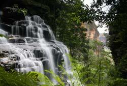 waterfalls in the Blue Mountain Australia