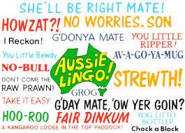 Australian Lingo chart
