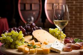 Cheese board and wine in Australia